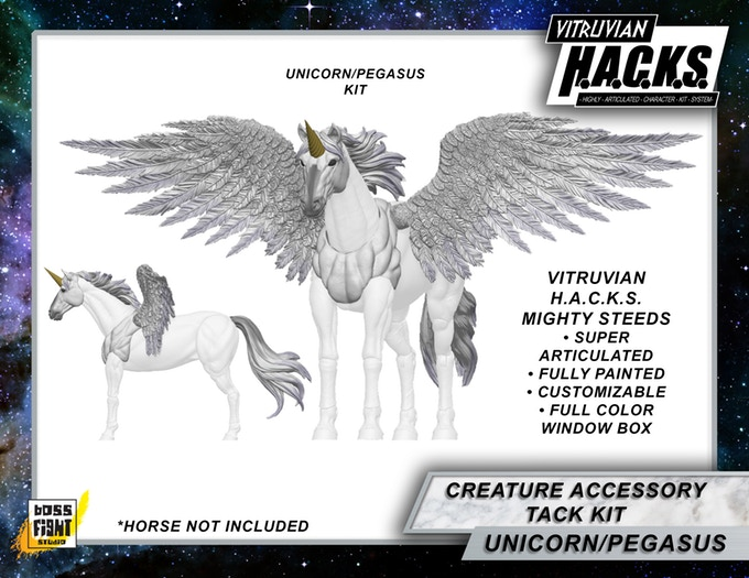 Vitruvian HACKS Mighty Steed Kickstarter is LIVE