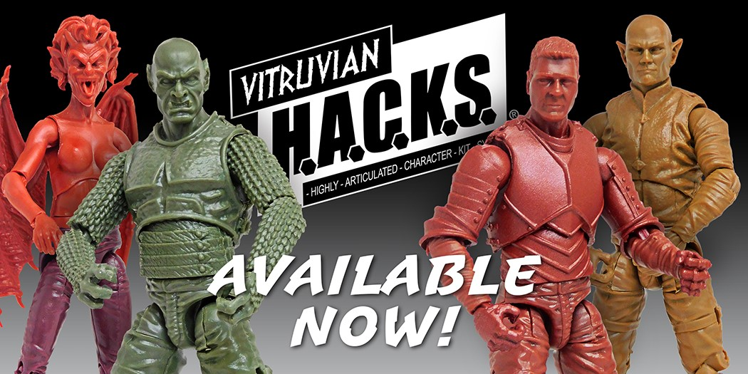 New Fantasy Action Figures Available-Blanks and Character Kits in Stock