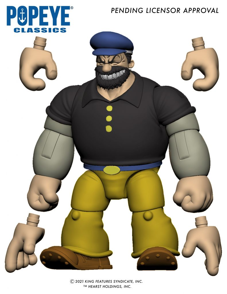 Bluto action figure from Boss Fight Studio