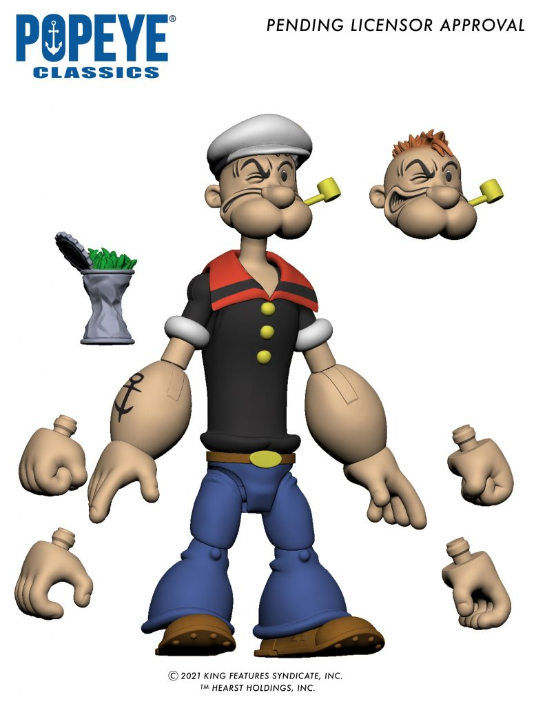 Popeye action figure and accessories by Boss Fight Studio