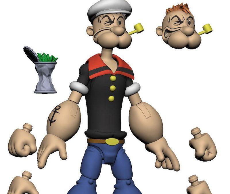 Popeye action figure by Boss Fight Studio