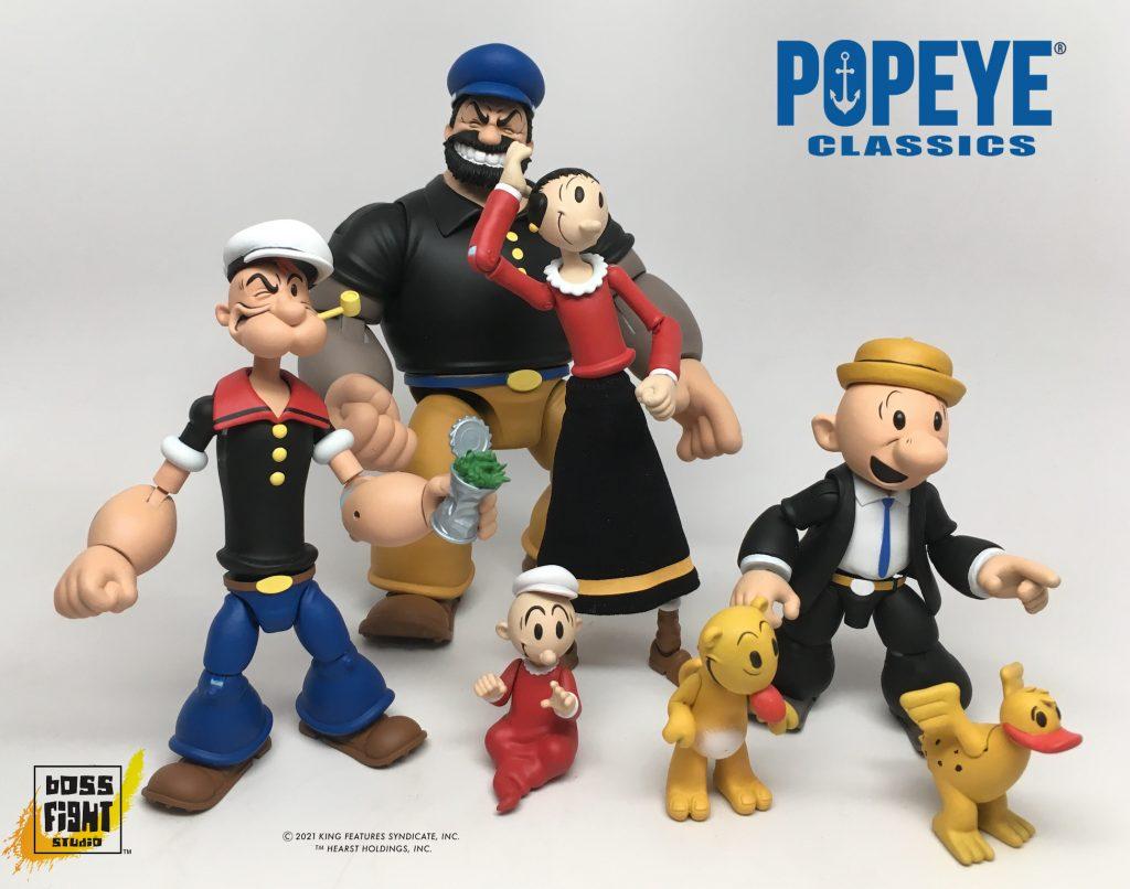 Popeye Action Figures series Boss Fight Studio